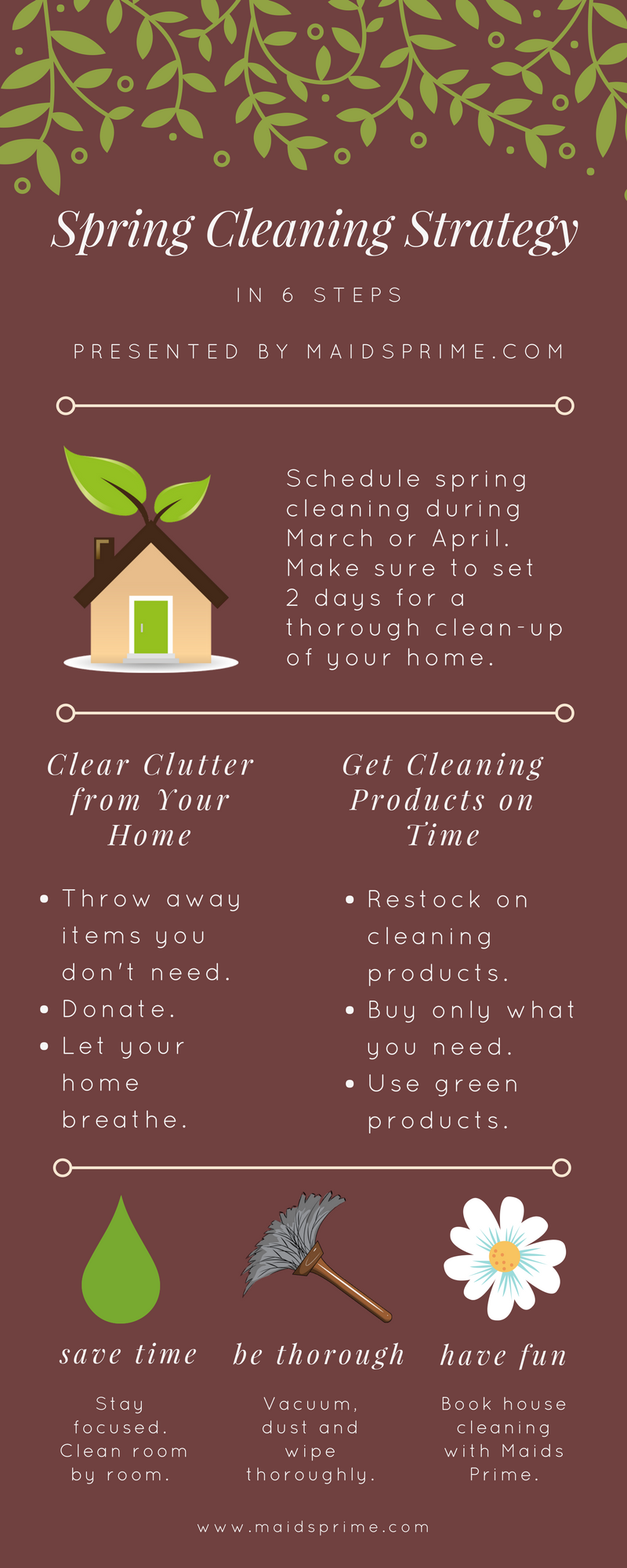 Spring Cleaning List - Tips & Tricks